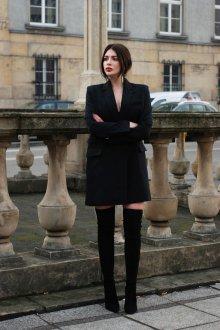 Платье пиджак с рукавами
