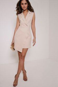 Платье пиджак светло-розовое