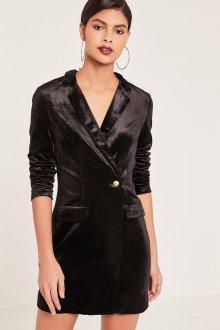 Платье пиджак велюровое