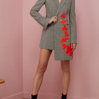 Платье пиджак с вышивкой