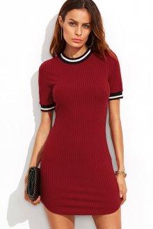 Платье футляр красное трикотажное
