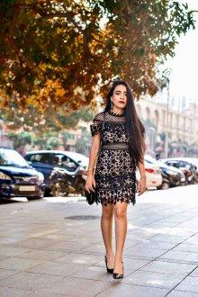 Платье футляр кружевное со звездами