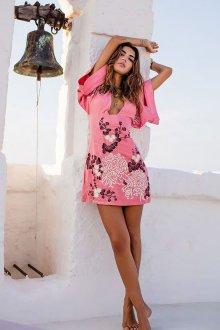 Платье футляр повседневное розовое