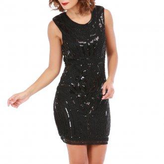 Платье футляр вечернее с пайетками