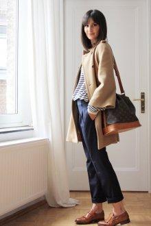 Коричневые броги с брюками