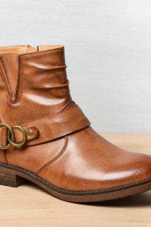 Коричневые ботинки демисезонные