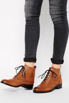 Коричневые ботинки оксфордские