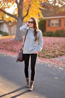 Серо-коричневые ботинки