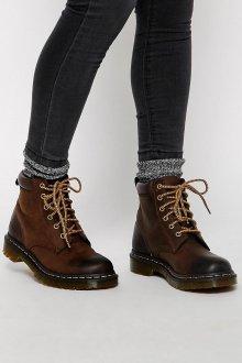 Коричневые ботинки на шнуровке