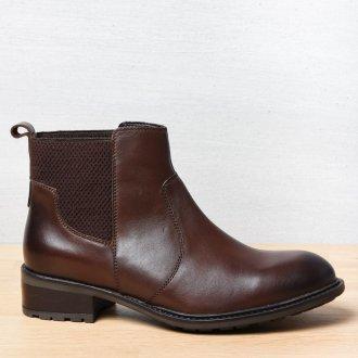 Коричневые ботинки темные