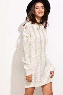 Платье вязаное белое