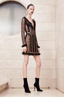 Платье вязаное черное ажурное