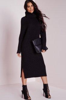 Платье вязаное длинное с рукавом