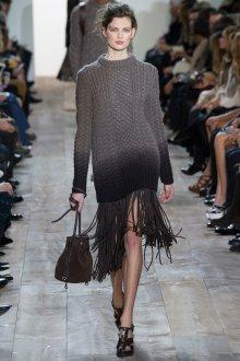 Платье вязаное с градиентом