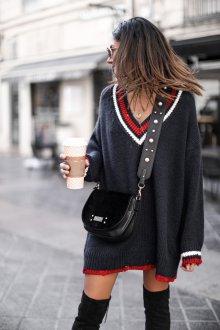 Платье вязаное в стиле гранж