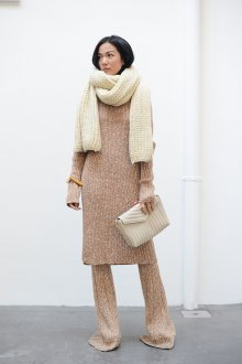 Платье вязаное с люрексом