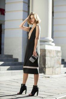 Платье вязаное открытое