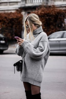 Платье вязаное оверсайз