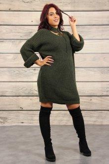 Платье вязаное для полных женщин