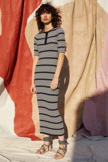 Платье поло вязаное