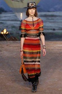 Платье вязаное разноцветное