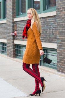 Платье вязаное терракотовое