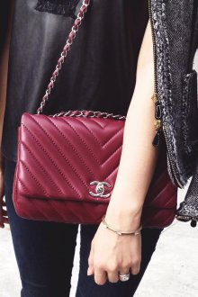 Бордовая сумка Chanel