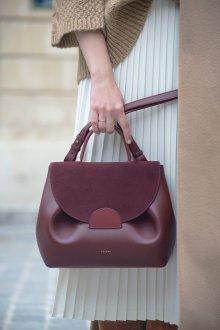 Бордовая сумка комбинированная