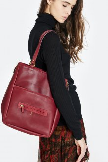 Бордовая сумка прямоугольная