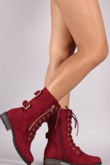 Красные ботинки ковбойские