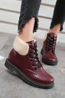 Красные ботинки на зиму