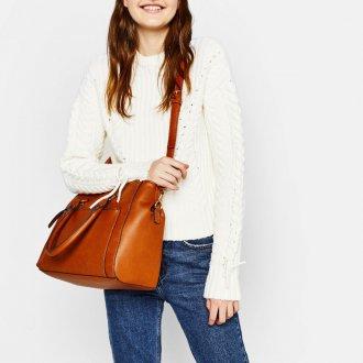 Классическая сумка коричневая