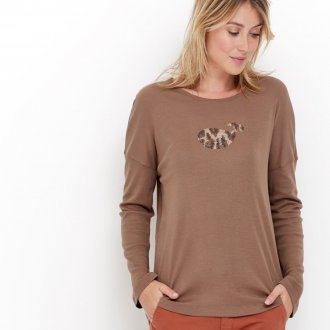 Лонгслив женский коричневый
