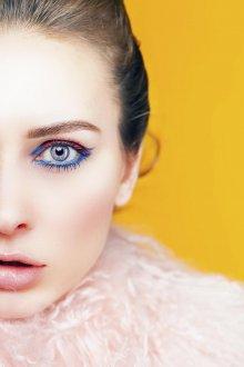 Корейский макияж голубой
