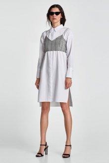Платье с разрезом повседневное белое