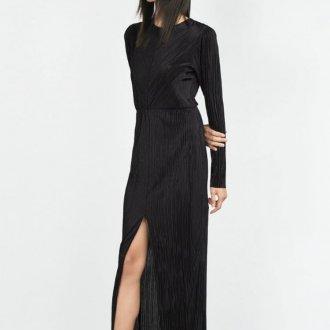 Платье с разрезом повседневное длинное