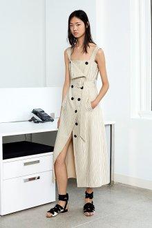 Платье с разрезом в полоску