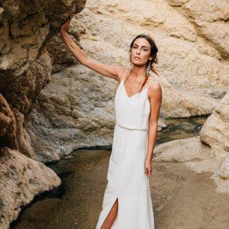 Свадебное платье с разрезом на ноге