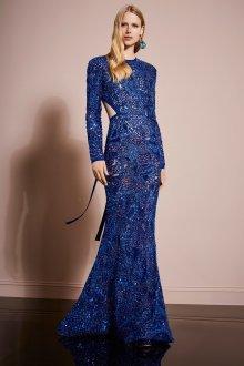 Платье с разрезом блестящее