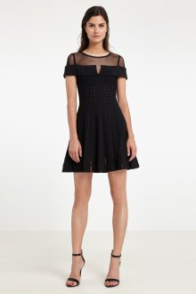 Платье с разрезом вечернее черное