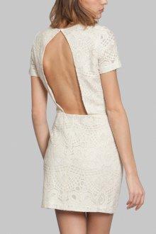 Платье с открытой спиной ажурное