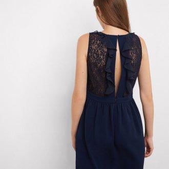 Платье с открытой спиной гипюровое