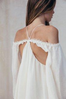 Платье с открытой спиной в стиле гранж