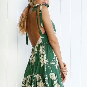 Платье с открытой спиной летнее
