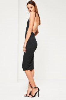 Платье с открытой спиной облегающее