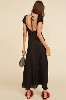 Платье с открытой спиной шифоновое