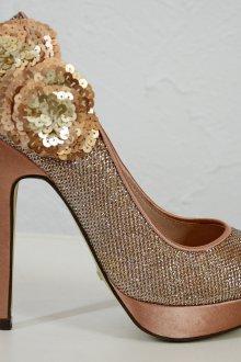 Туфли вечерние блестящие золотые
