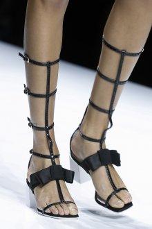 Туфли вечерние черные гладиаторские