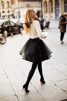 Туфли вечерние черные на шпильке