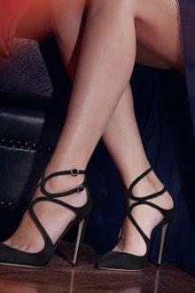 Туфли вечерние черные замшевые